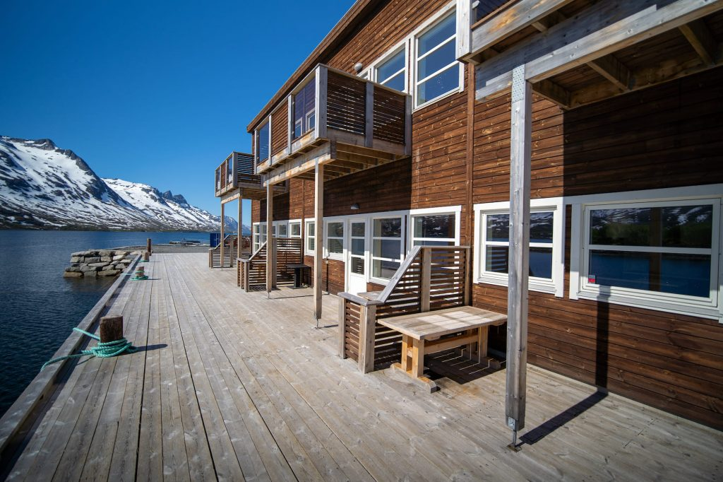 Outside pier at Arctic Booking, Ersfjordbotn Brygge