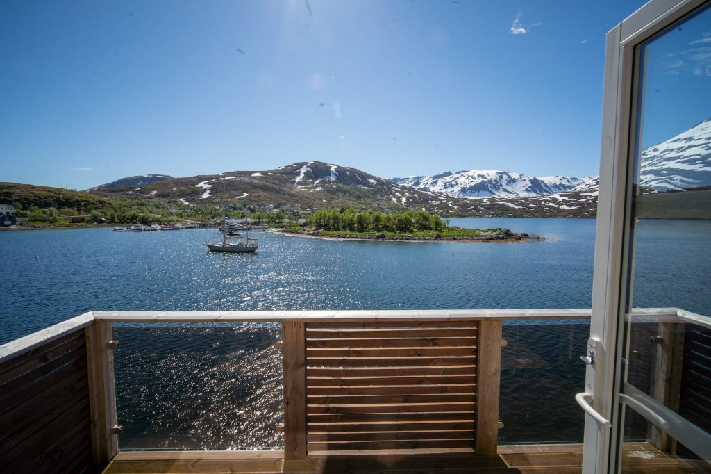 View from a cabin at Ersfjordbotn Brygge and Arctic Booking: a rorbu